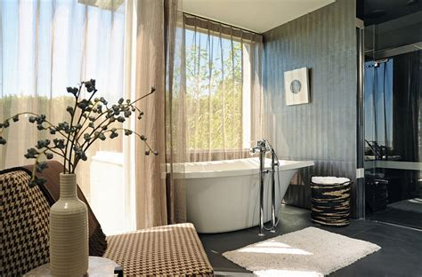 Modern Bathroom Idea Sheer Curtains Ideas Pictures Design Inspiration