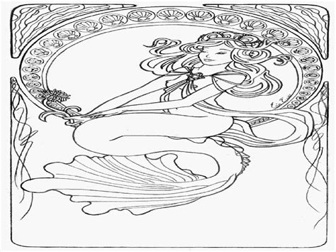 Mermaid Coloring Pages For Adults by Coloring Pages Mermaid Coloring Home
