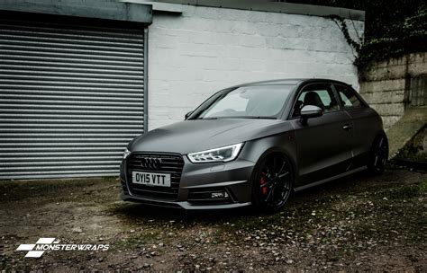 Audi A1 Grau by Audi A1 Tsfi Satin Grey And Satin Black Wrap