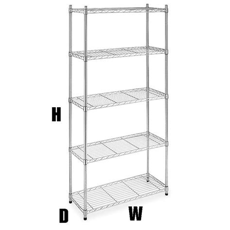 5 shelf 72 quot hx36 quot wx14 quot d chrome wire home kitchen garage