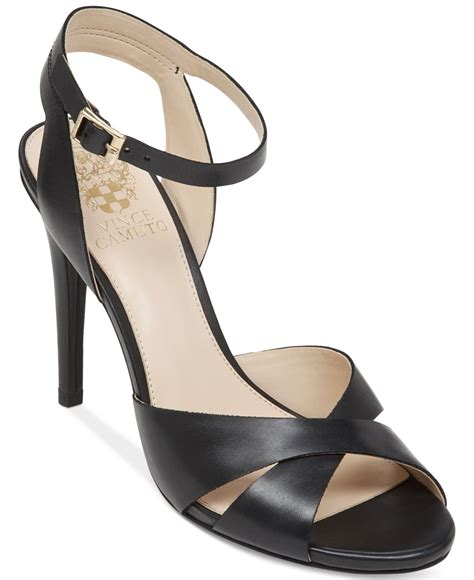 vince camuto high heels vince camuto soliss high heel sandals in black lyst