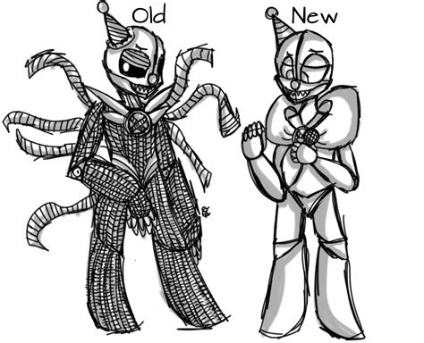 imagenes para colorear fnaf ennard old to new by carritrap on deviantart