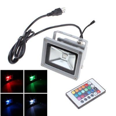 remote control outdoor flood lights tpcromeer 10w rgb 16 color changing outdoor waterproof