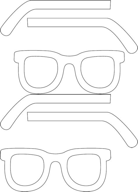 glasses template summertime sunglasses template cut glasses in half