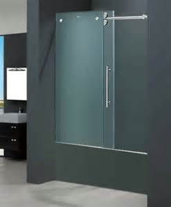 Corian Bathtubs Vigo Vg6041chmt6066 60 Quot W X 66 Quot H Frameless Frosted Glass