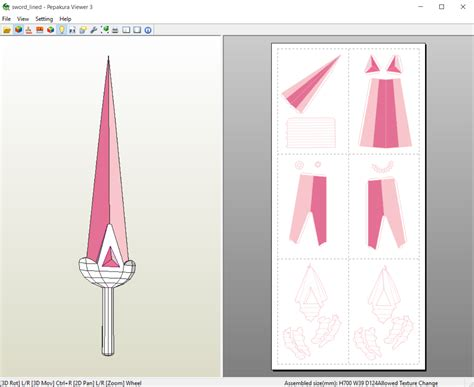 Sword Papercraft - bee and puppycat bee s sword papercraft by aiko chan14