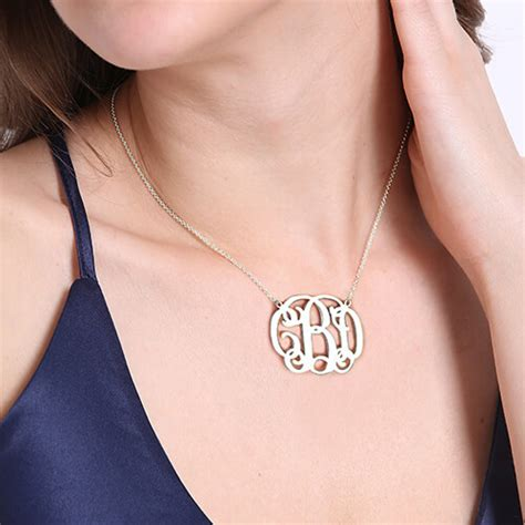 celebrity personalized jewelry sterling silver custom celebrity monogram initial necklace