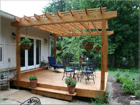 how to build a deck pergola best 25 ground level deck ideas on deck with