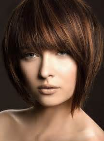 angle haircut short angled bob hairstyles with bangs for black women