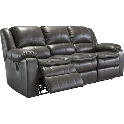 ashley dual reclining sofa ashley longknight double reclining sofa gray sofas