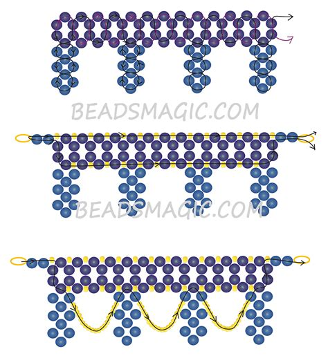 beading patterns free instructions free pattern for necklace opera beads magic