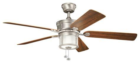 kichler lighting 310105wcp deckard outdoor fans