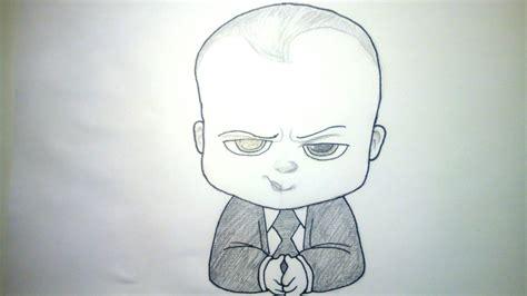 imagenes a lapiz animadas c 243 mo dibujar al beb 233 jefazo jefe en pa 241 ales a l 225 piz paso