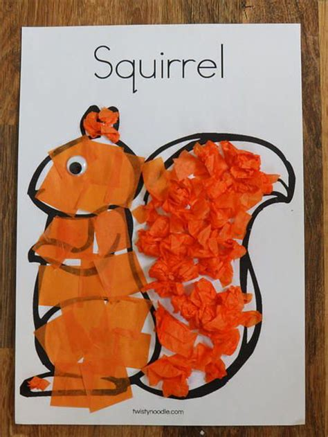 squirrel crafts for squirrel tissue paper and toddler crafts on