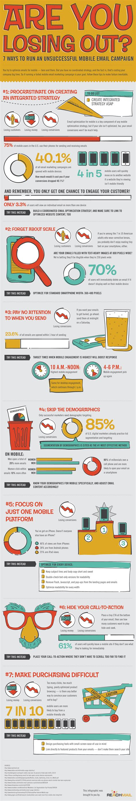 mobile email marketing mobile email marketing fails infographic new media and