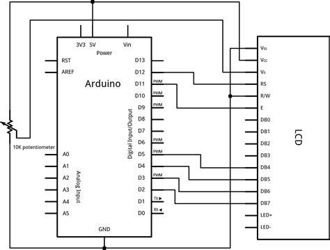 potentiometer wiring diagram arduino get free image