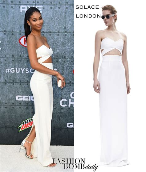 Choice Awards Strapless Trend by Splurge Chanel Iman S Spike Tv S Choice Awards Solace