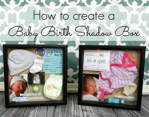 How To Build A Baby - baby birth shadow boxes