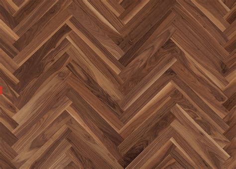 European walnut engineered herringbone parquet flooring.