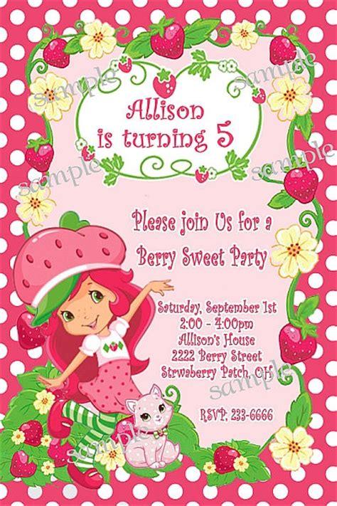 Strawberry Shortcake Invitation Template Orderecigsjuice Info Strawberry Shortcake Invitation Template Free