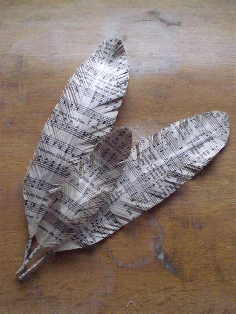 Feathers Out Of Paper - 2 id 233 es pour cr 233 er des plumes en tissus ou en papier