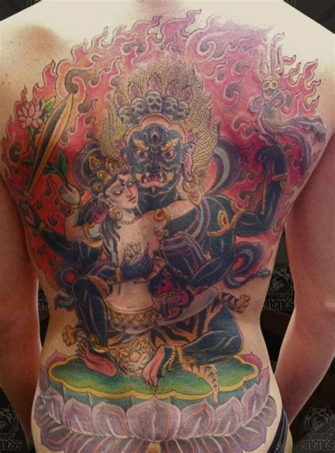 tibetan mahakala and white tara tattoo by darko