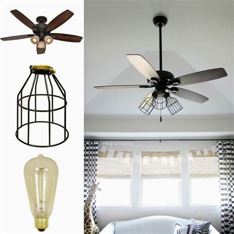 kitchen ceiling fans with bright lights wonderful diy cage light ceiling fan