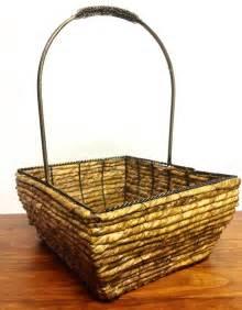 decorative basket with metal ebay