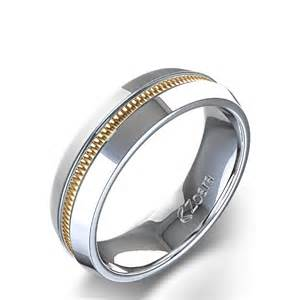 unique wedding band unique high channel s wedding ring in 14k two tone white gold