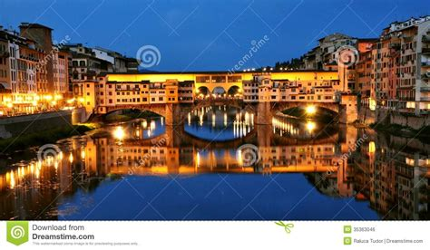 Tudor Architecture florence city lights by night italy royalty free stock