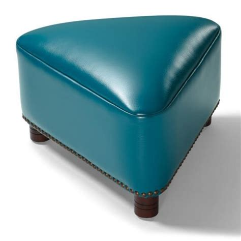 triangle ottoman textured bonded leather modern artistic triangle footstool