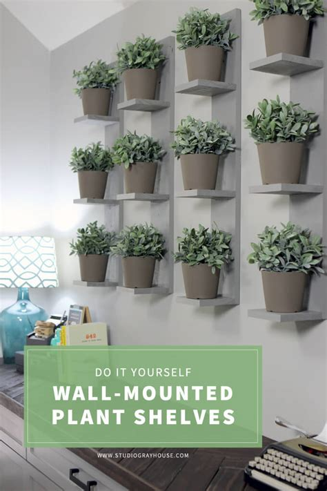 Wall Mounted Herb Garden by Wall Mounted Plant Shelves Diy