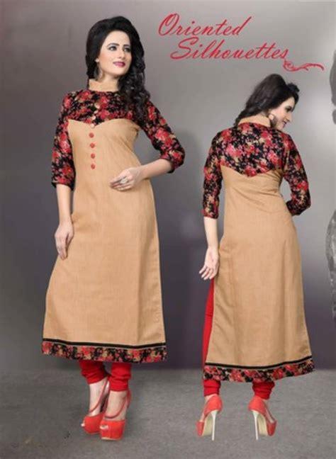 kurtis pattern name buy cream garmany cotton printed stitched kurti online