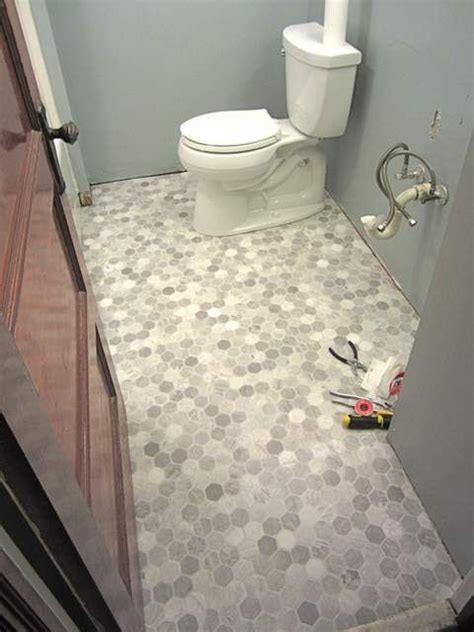 Bathroom Floor Vinyl Sheet by How To Install A Sheet Vinyl Floor Home