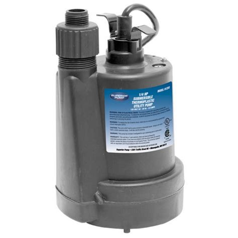 Plumbing Pumps by Superior 1 4 Hp Submersible Thermoplastic Utility