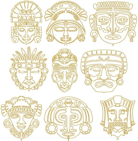 aztec mask template aztec mask designs www pixshark images galleries