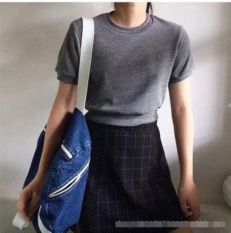 Mini Dress Dress Korea White Sweet Roses L Import Original shirt grey sweater aesthetic pale soft