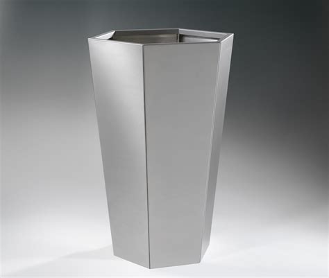 vasi in acciaio vaso exagon inox designer