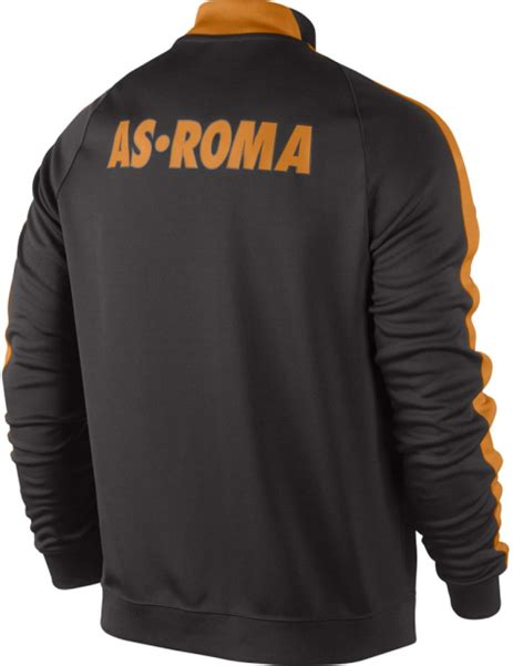 Jaket Bola Play Maker As Roma Black jaket as roma n98 black 2014 2015 big match jersey