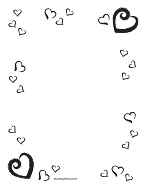 s hearts portrait blank clipart borders