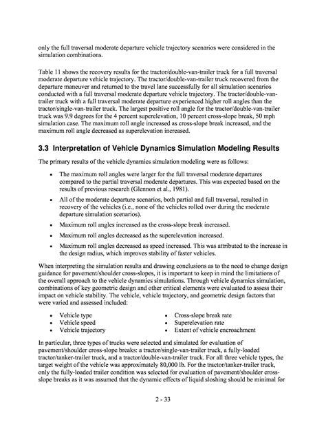 design criteria screening part 2 assessment of design criteria for pavement