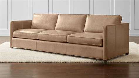 dryden leather 3 seat 103 quot grande sofa crate and barrel