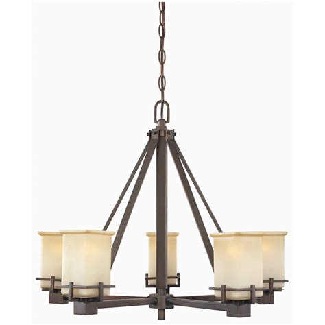 hton bay 5 light brushed bronze chandelier the