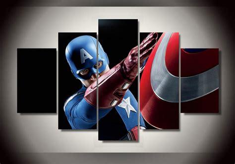 Captain America Decor by Captain America Marvel Comics Framed 5pc