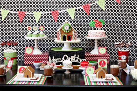 house party ideas hgtv gingerbread house party free printable collection