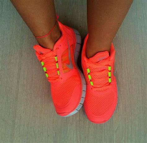 neon orange sneakers shoes orange neon sneakers nike running shoes nike