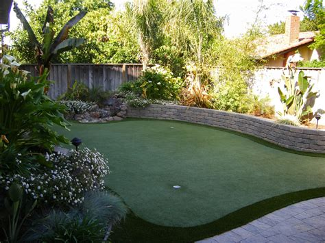 Tropical Backyard Landscaping Ideas Astonishing Indoor Practice Putting Green Decorating Ideas Images In Landscape Tropical Design