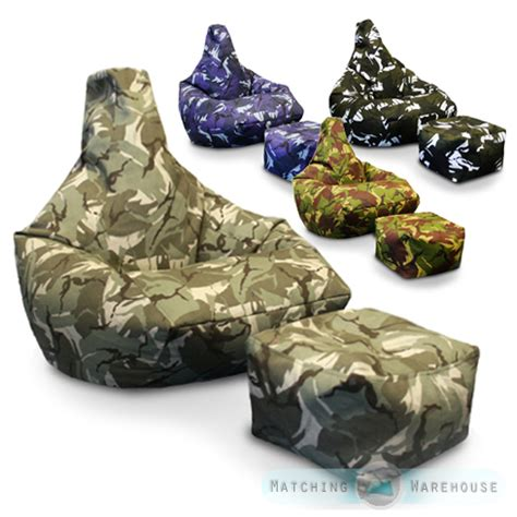 camo bean bag couch army camouflage bean bag foot stool gamer beanbag gaming