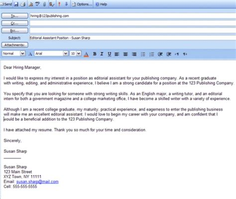 how to send a cover letter in email email cover letter sle jvwithmenow