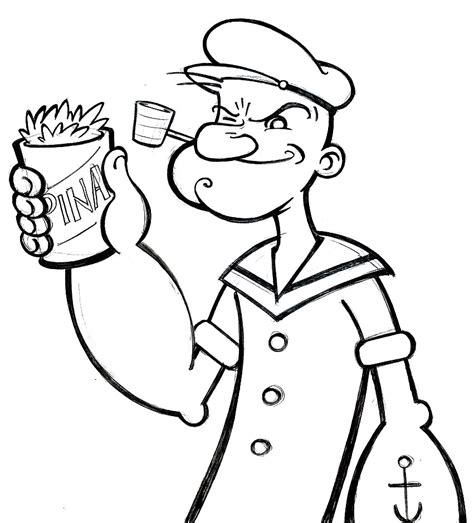 10 printable popeye coloring pages print color craft